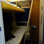 On the nighttrain to Budapest yesterday. Not much room to move, but the beds were quite nice and large. Now, just one question... where am I going to put my backpack....??